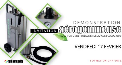 Simab vous invite pour une démonstration d'aérogommeuse